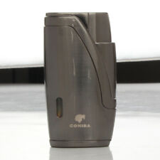 Cohiba Cigar Lighter Windproof Gas Refillable 2 Flame Jet Torch Portable Punch