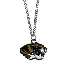 "missouri tigers charm college football necklace 22"" chain"