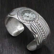 Handcrafted Sterling Silver Dome Watch Cuff Bracelet - Carson B.