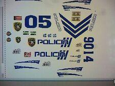 Puerto Rico Police Car Decals 1:24