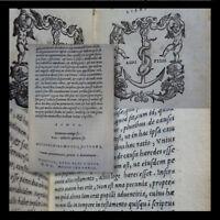 CICERONE MANUZIO 1550 Rethoricorum Herennium Ciceronis De Oratore Venezia ALDINA