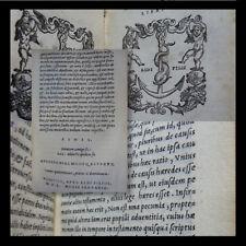 CICERONE MANUZIO 1550 - Rethoricorum Herennium Ciceronis De Oratore Venezia