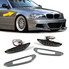 SMOKED LED SIDE INDICATORS REPEATERS + CHROME SURROUNDS BMW E46 E60 E61 & X3 E83