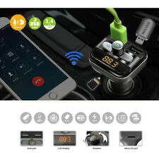 Bluetooth Wireless FM Transmitter USB Charger Audio MP3 Player Car Kit