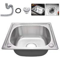 ISX 1.5 Bowl Undermount Stainless Steel Kitchen Sink With Waste Kit W594xD460mm