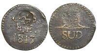 Oaxaca (Morelos/SUD) Mexico copper 8 reales 1813, plain fields, with Morelos cmk