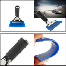 1pc Car Window Glass Film Tint Tool Blue Max Pro Squeegee With Handle Universal