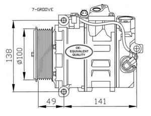 Kompressor Klimaanlage NRF 32216