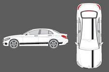 Mercedes-Benz C-Clase W205 lado, techo, capó rayas Decal Set Edition 1 Estilo AMG