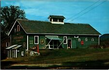 Postcard~Elizabethtown, New York~Route 9~The Grey Barn~Gift Shop