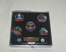 NFL Pittsburgh Steelers Super Bowl XLIII Champions 5 Pin Set Limited Edition New