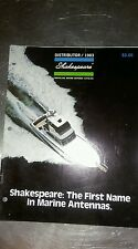 Vintage 1983 Shakespeare Fiberglass Marine Antenna Catalog Boat Audio Stereo