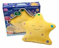 MY DUA PILLOW with Light & Sound Islamic Toy - Desi Doll (Closed Eyes -Yellow)