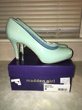 Madden Girl GETTA Women's Mint Patent Leather Pumps - Size US 8