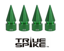 4 TRUE SPIKE GREEN SPIKED TPMS WHEEL AIR VALVE STEM COVER CAP FOR JEEP CHEROKEE
