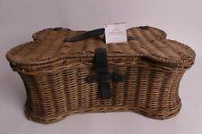 """NWT Pottery Barn Dog Toy storage basket, small 18.75 x 11.25 x 7.5"""""""