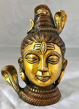Shiva Brass Heavy Large 5'' Statue Naag Snake Ganga Hinduism God Bhola Shivling