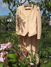 elegant apricot 2 piece suit, Tom Bowker quality tailoring & manufacture size 14