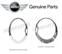 Genuine Pair Set of Left & Right Headlight Trim Rings for Mini Cooper R52 02-08