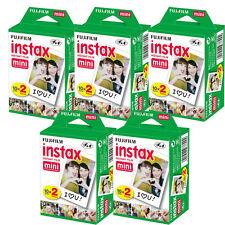 100 Sheets Fujifilm instax Mini Film for Mini 8 & 9 and all Fuji Mini cameras