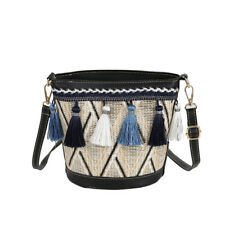 Ethnic Women's Staws Shoulder Bags with Tassels Crossbody Bag Totes Summer Bench