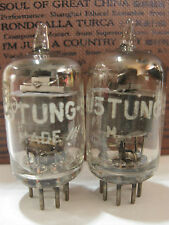 2 matched 1952 Tung-Sol JTL-6AJ5 (6AK5,5654,403B,6J1)tubes - TV7D tested@23, 23