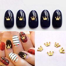 20pcs Fashion Crown Alloy Nail Art Rhinestone Studs Gold 3D Nail Charms Jewelry