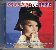 2 CD COMPIL 50 TITRES--SOUVENIRS DE PARIS--BARDOT/AZNAVOUR/PIAF/GAINSBOURG/BREL