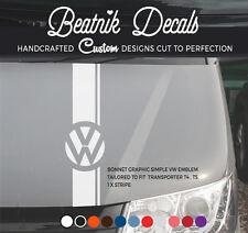 VW T4 T5 T6 Bonnet Stripe Decal Sticker VW Transporter Volkswagen Graphic Vinyl