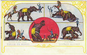 Alte AK Cirque du Monde Charles Kludsky, Zirkus, Cirkus, Elefant, Dressur