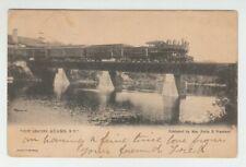 [71407] 1906 POSTCARD RAILROAD TRAIN LEAVING ADAMS, NEW YORK