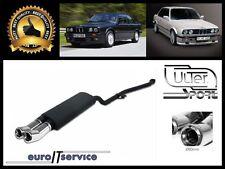 SILENCIEUX POT D'ECHAPPEMENT BMW E30 4CYL. 1987 1988 1989 1990 1991 TIP 2x80