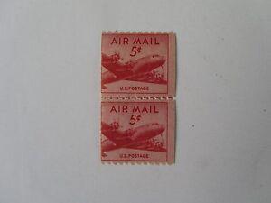 Airmail Coil Stamp Line Pair Airmail Mint N/H  DC-4 Skymaster #C37