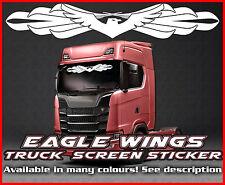 Eagle Wings Camión Camión Pegatina de pantalla de viento vidrio ventana de cabina ambiente MAN DAF Scania