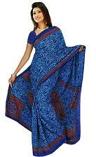 Chiffon Bollywood Karneval Sari Orient Indien Fo302