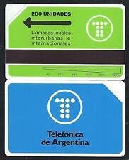 ARGENTINA 2 200u Logo telefonica 1991 MINT URMET Neuve
