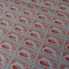 FEUILLE SHEET ILES MALOUINES FALKLAND ISLANDS N°117 x60 REINE ELISABETH II 1957