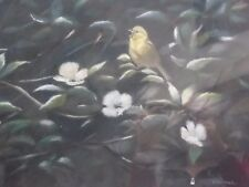 PASTEL THE SONG BIRD LISTED WILDLIFE ARTIST JOEL KIRK  FREE SHIPPING TO ENGLAND