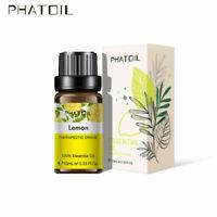 Parfums organiques 100% purs d'huiles essentielles d'aromathérapie de citron