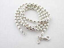 "Genuine Pandora Bead Chain Necklace 590143-60  23.6""  .925 Silver Retired  New"