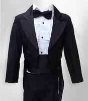 Ragazzi Abiti Crema CODE 5pc Suit Formale Paggetto Nozze Ballo