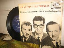 THE CRICKETS..IT'S SO EASY CORAL ORIGINAL ENGLAND 1959