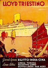 LLOYD TRIESTINO-turismo-viaggio-Egitto-India-Cina-PATRONE -linee celeri espressi