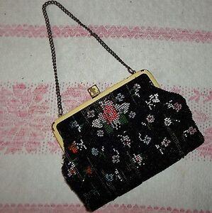 kleine Tasche-Perlenstickerei-Glasperlen-Handtasche-Bügel