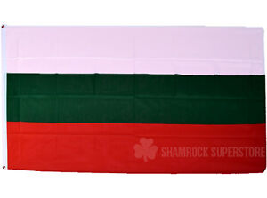 BULGARIA FLAG - NEW 5 x 3 FT -  BULGARIAN - LARGE - GREAT QUALITY - FAST POST