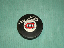 Travis Moen Hand Signed Montreal Canadiens Puck NHL