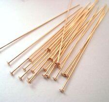 20x 22 gauge 14K yellow Gold Filled flat Cupped head Headpin pin  findings  GF10