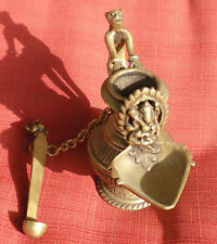 Slightly Old Solid Brass Nepalese/Tibetan Sukunda Oil Lamp w/ Ganesh