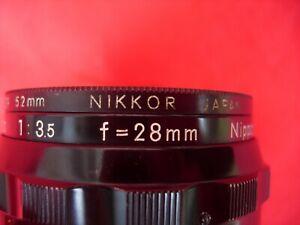 Nippon Kogaku NIKON NIKKOR -  H  AUTO f= 28MM 1:3.5  Camera  LENS