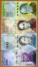 SET Venezuela, 50;100;500;1000 Bolivares, 2012-2017, P-UNC